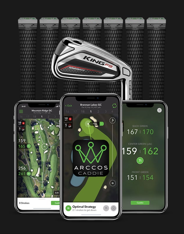 iPhone Arccos iron and grips